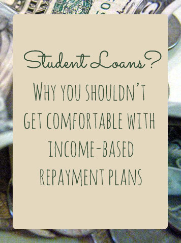 If you qualify, you won't pay more than 15% of what they deem your discretionary income. After 20-25 years of payments than the rest of your student loans are forgiven. On the surface, this sounds great, but there's a catch.