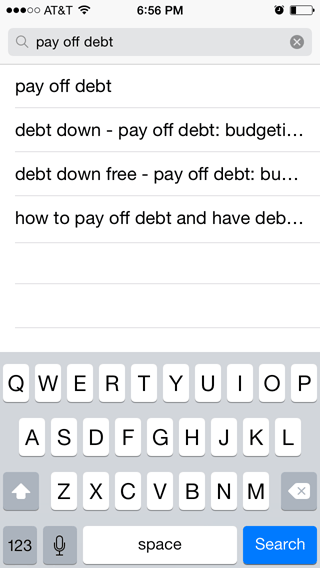 Searching for Pay Off Debt
