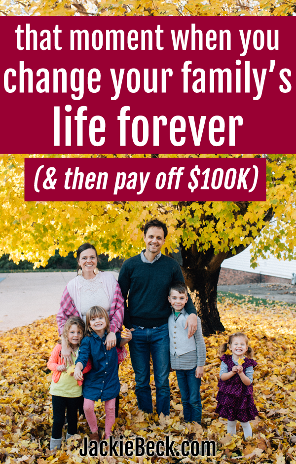 Such a great story! How this family paid off $100,000 in debt, while pregnant.
