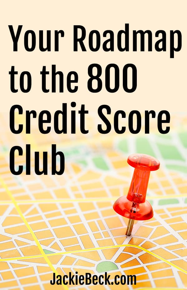 Your roadmap to the 800 credit score club; pushpin on map