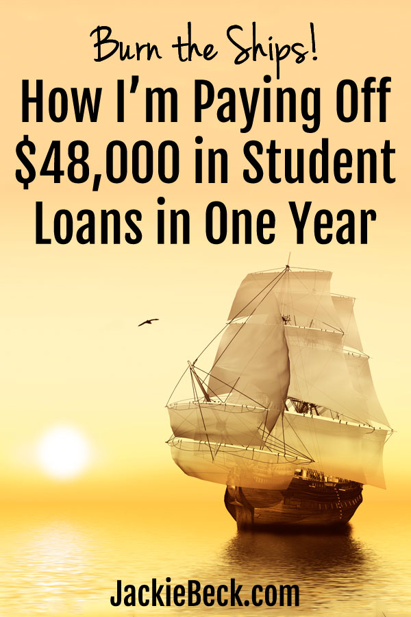 How I'm paying off $48,000 in student loans in one year
