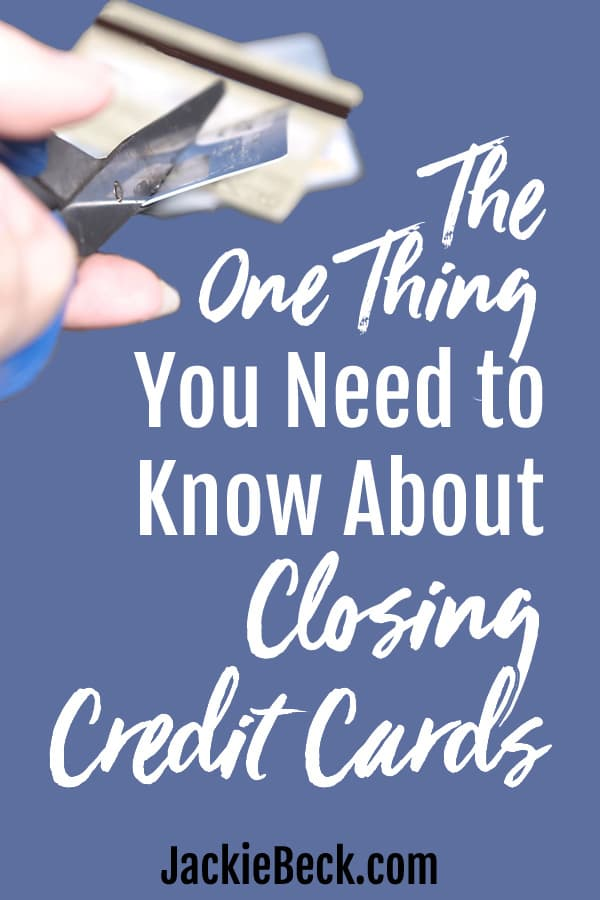 What happens when you close your credit cards