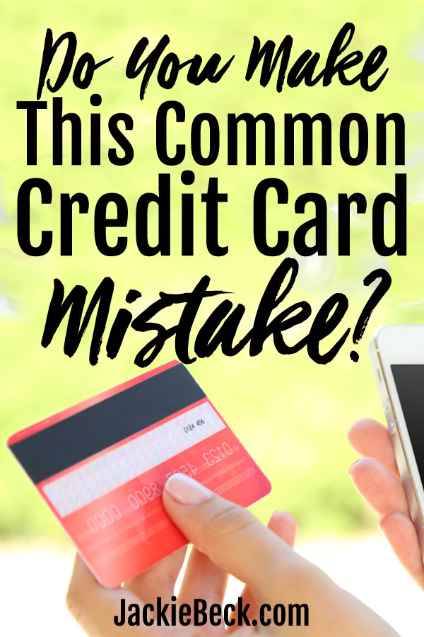 Avoid this trap! One of the most common credit card mistakes...