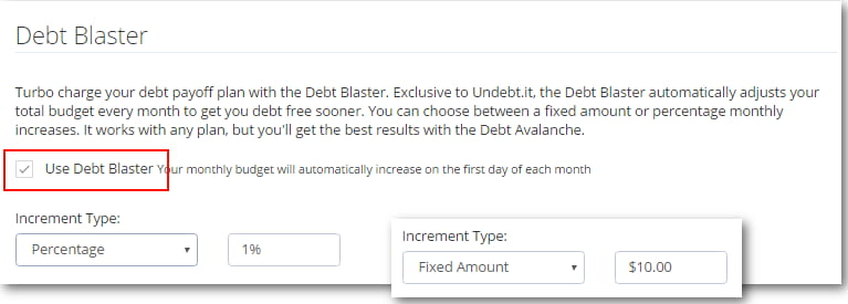 The Undebt.it Debt Blaster Payoff Method example