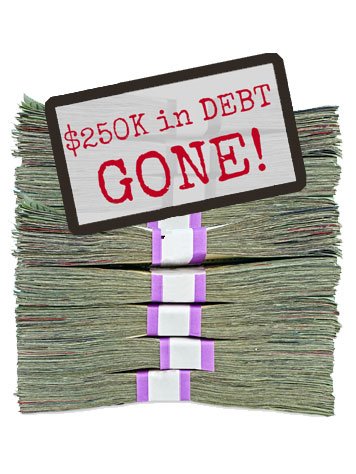 How we paid off $250,000 in debt in 5 years