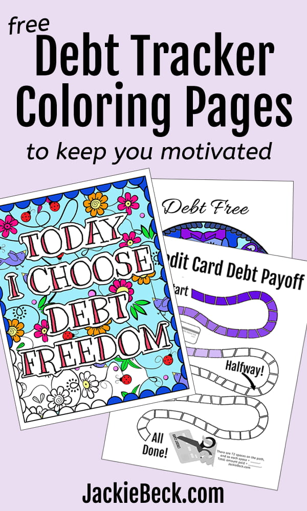 Free debt tracker coloring pages to keep you motivated