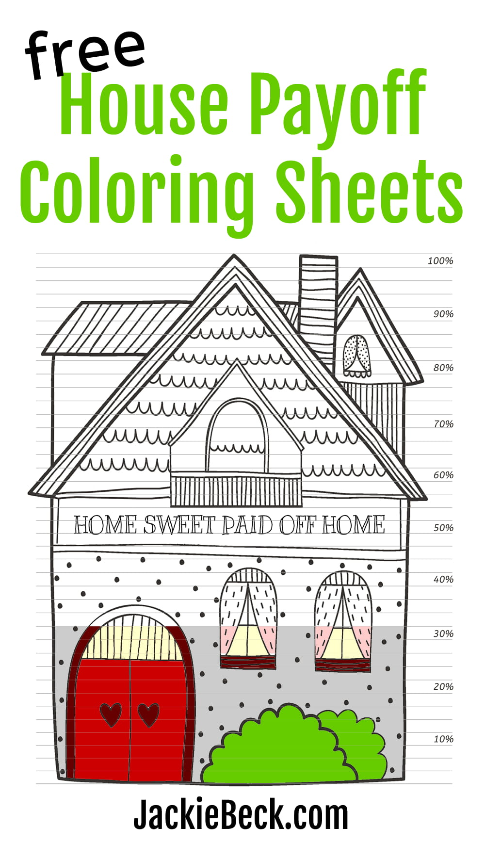 Free house payoff coloring sheets