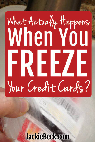 The suggestion to freeze credit cards in ice when you're trying to pay off debt sounds so smart, but is it? Here's what can actually happen to the cards and your credit card debt if you try it.