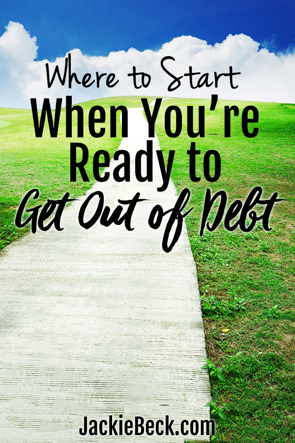 Feeling overwhelmed, tired, or frustrated with debt? Ready to be get out of debt without putting your life on hold? Here's where to start!