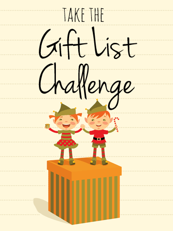 I'm taking the Gift List Challenge