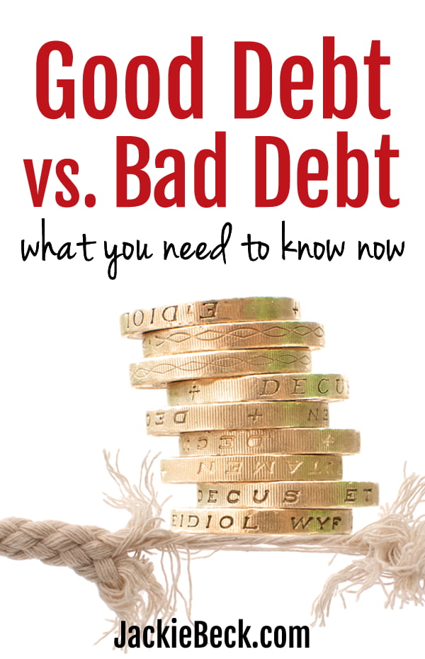 Wondering what the difference is with good debt vs. bad debt? Here's what you need to know about it.