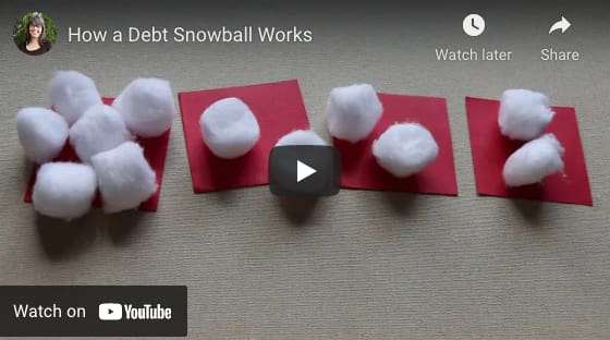 Video example of how a debt snowball works