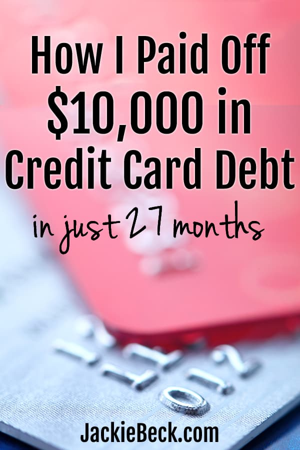How Jerry paid off $10,000 in credit card debt in just 27 months.