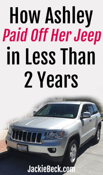 How Ashley paid off her Jeep in less than two years -- Jeep parked on street