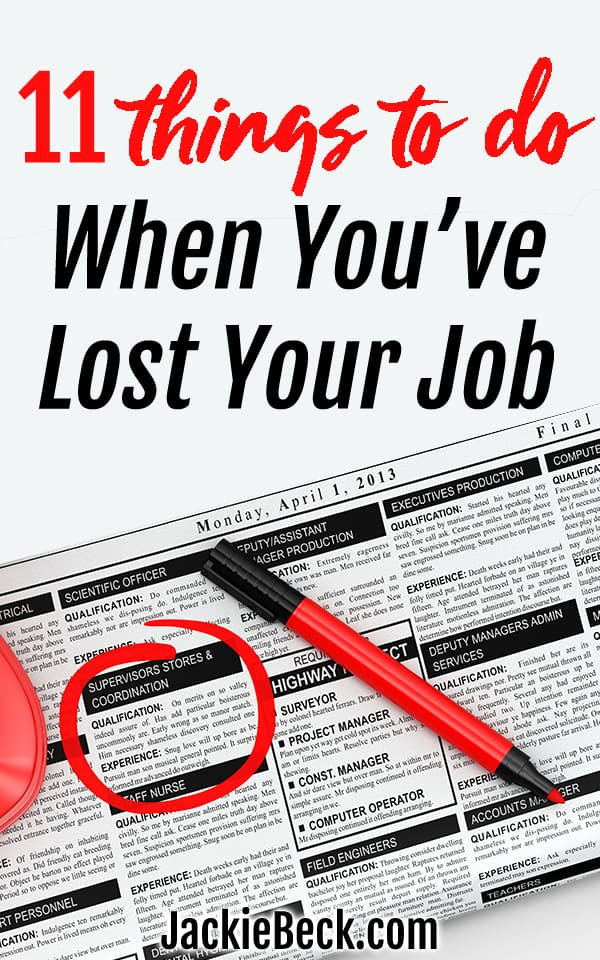 11 things to do when you've lost your job