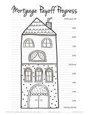 Mortgage payoff coloring chart