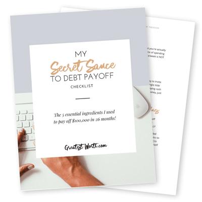 Secret Sauce of Debt Payoff Checklist