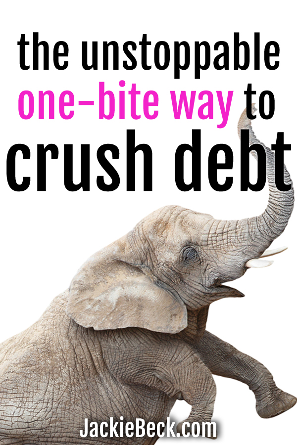 Food for thought! Crush debt using the one-bite method