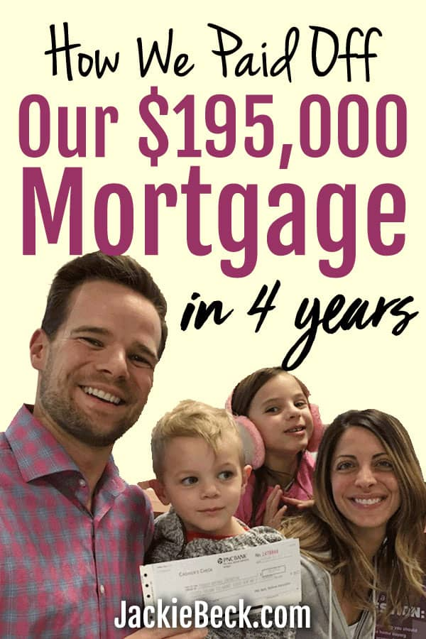 Wow, if they can do it maybe I can too! How this family paid off their $195,000 mortgage in 4 years.