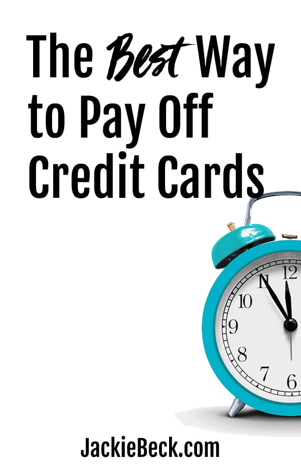 The best way to pay off credit cards