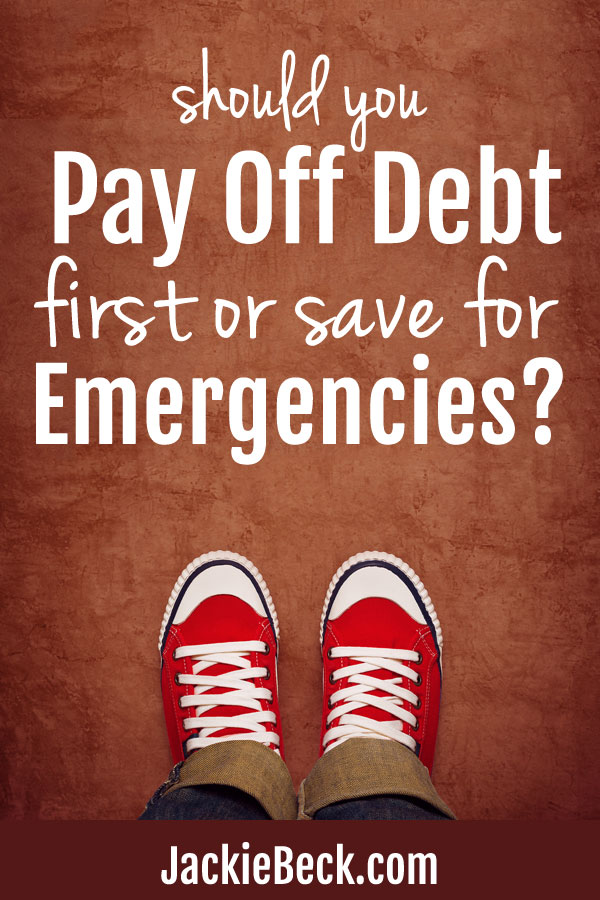 Solving the money dilemma: Pay off debt or emergency fund first