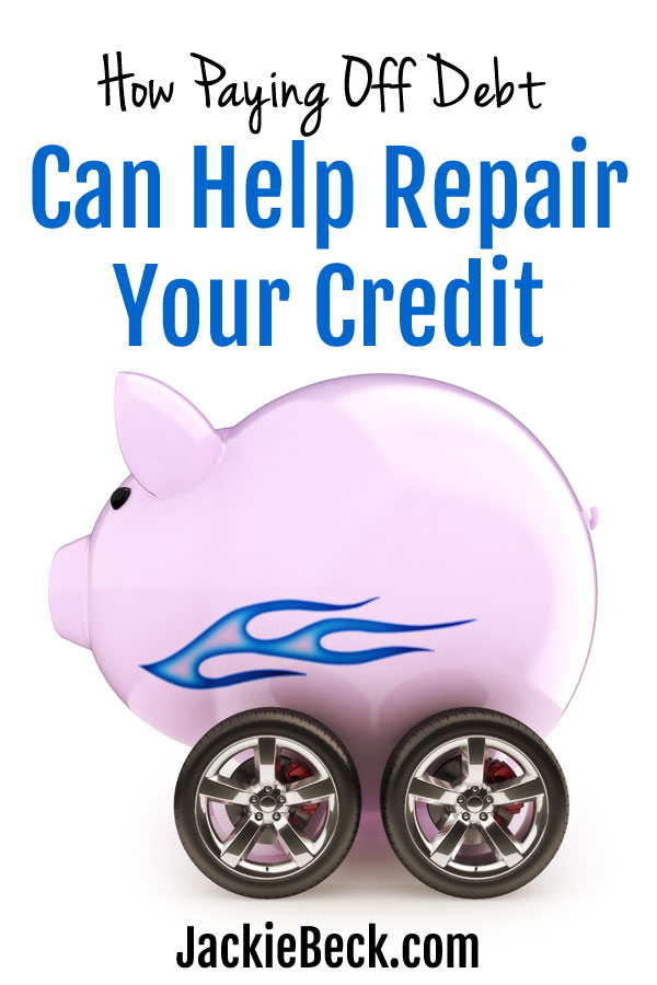 How paying off debt can help repair your credit and improve your credit score.