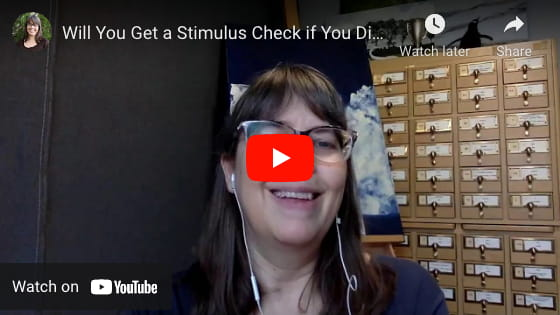 Will you still get a stimulus check if you didn't file taxes video