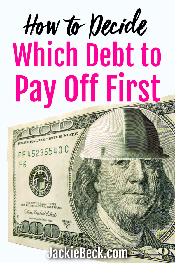 Wondering what debt to pay off first? Here's an easy way to decide!